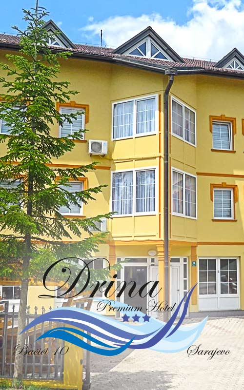 "<p style=""text-align: right;""><em><strong>Premium hotel</strong></em></p> <p style=""text-align: right;""><strong>Drina</strong></p> <p style=""text-align: right;"">Sarajevo</p>"